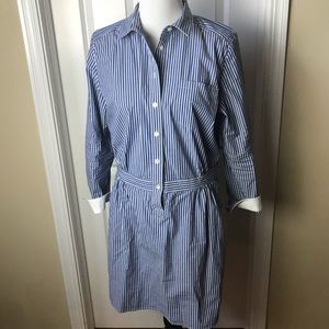 Banana Republic | Blue/White Striped Shirtdress